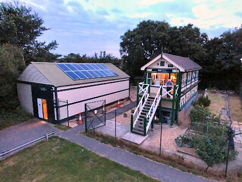 Barnham Signal Box and the Goods Shed