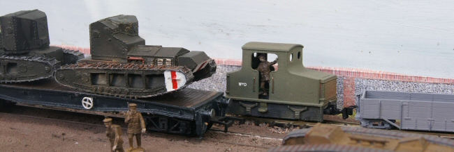 Sussex by the sea - military train